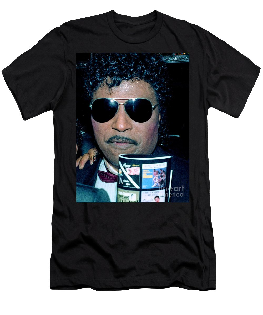 Singer Men's T-Shirt (Athletic Fit) featuring the photograph Little Richard 1989 by Ed Weidman