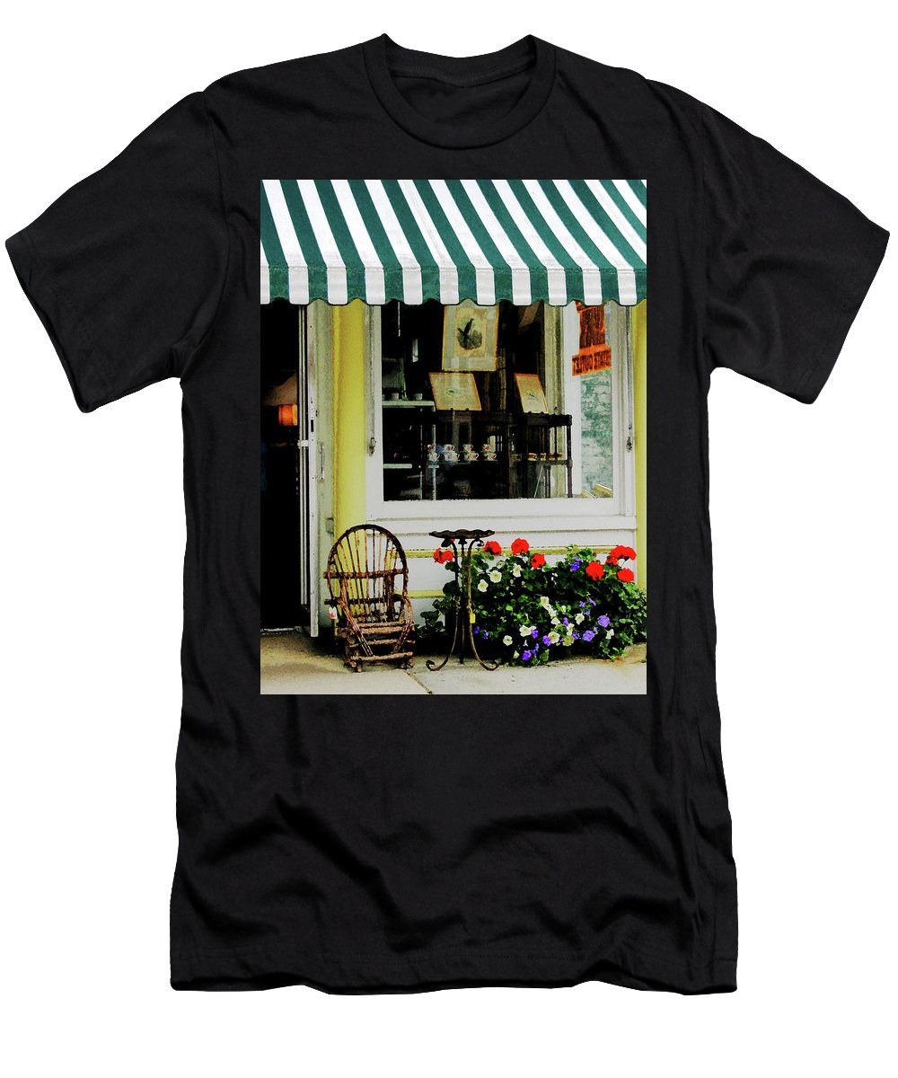 Rocking Chair Men's T-Shirt (Athletic Fit) featuring the photograph Little Rocking Chair By Antique Store by Susan Savad