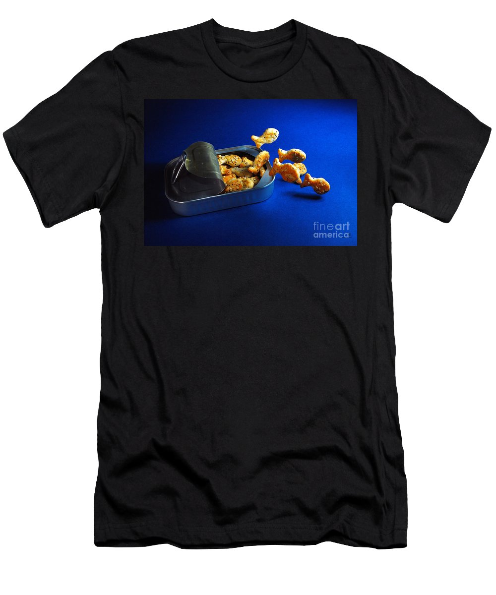 Fish Men's T-Shirt (Athletic Fit) featuring the photograph Living In A Can by Hannes Cmarits