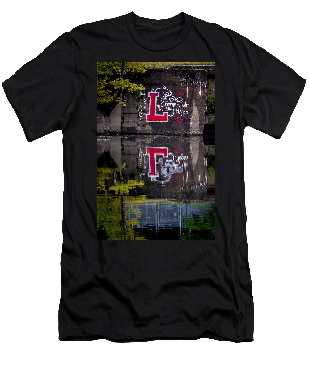 Lafayette College Men's T-Shirt (Athletic Fit) featuring the photograph Lafayette Leopards by Michael Brooks