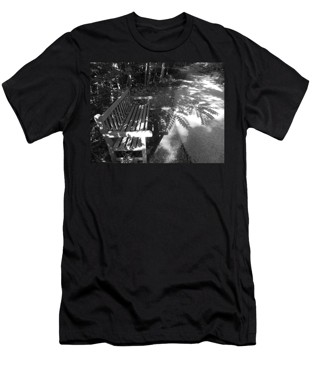 Nature Men's T-Shirt (Athletic Fit) featuring the photograph Lonely Bench 5 by Said Oladejo-lawal