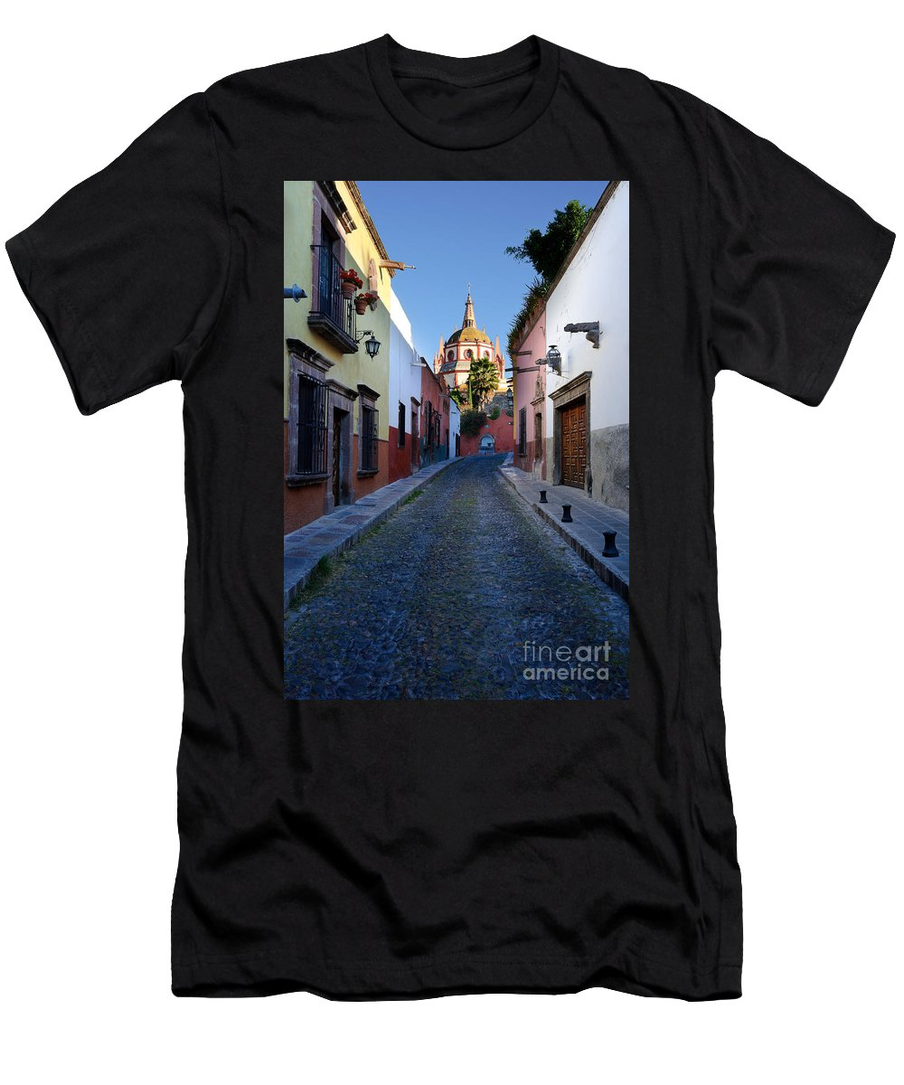 Travel Men's T-Shirt (Athletic Fit) featuring the photograph Looking Down Aldama Street, Mexico by John Shaw