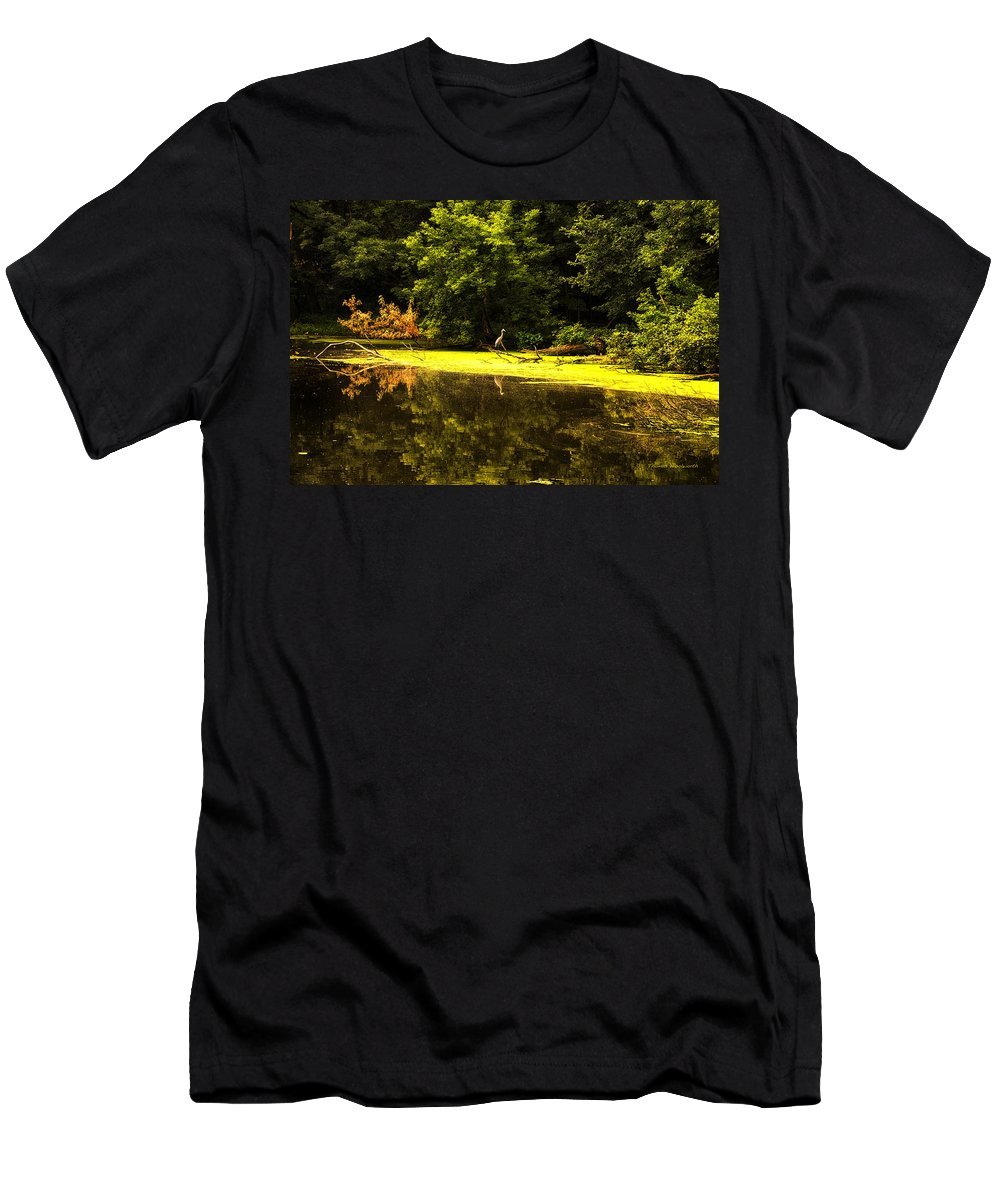 Looking For Breakfast Men's T-Shirt (Athletic Fit) featuring the photograph Looking For Breakfast by Thomas Woolworth