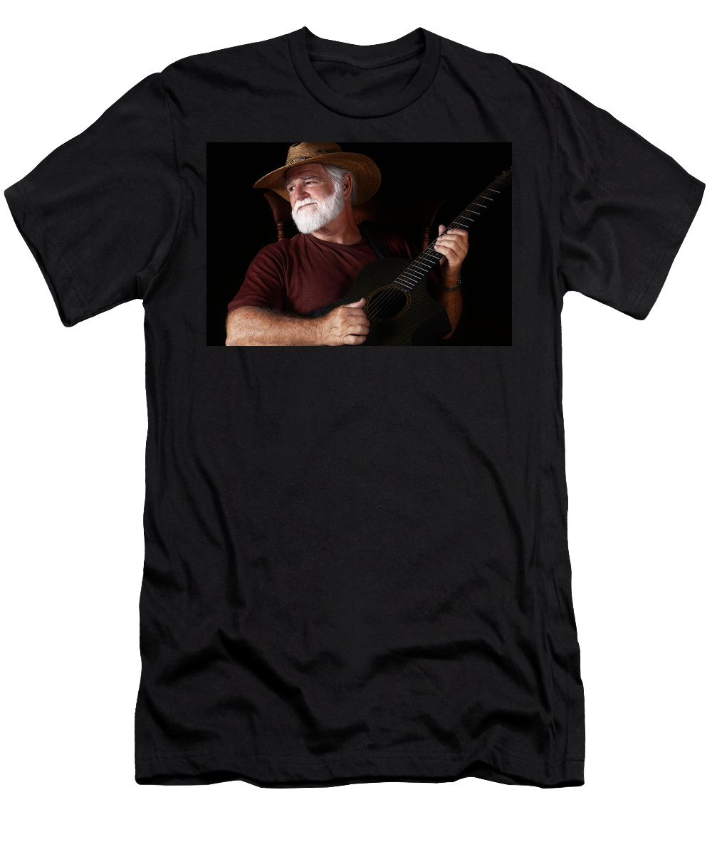 Guitar Men's T-Shirt (Athletic Fit) featuring the photograph Lost In Song by Daniel George