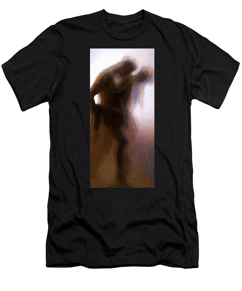 Lovers Men's T-Shirt (Athletic Fit) featuring the painting Lovers by Steve K