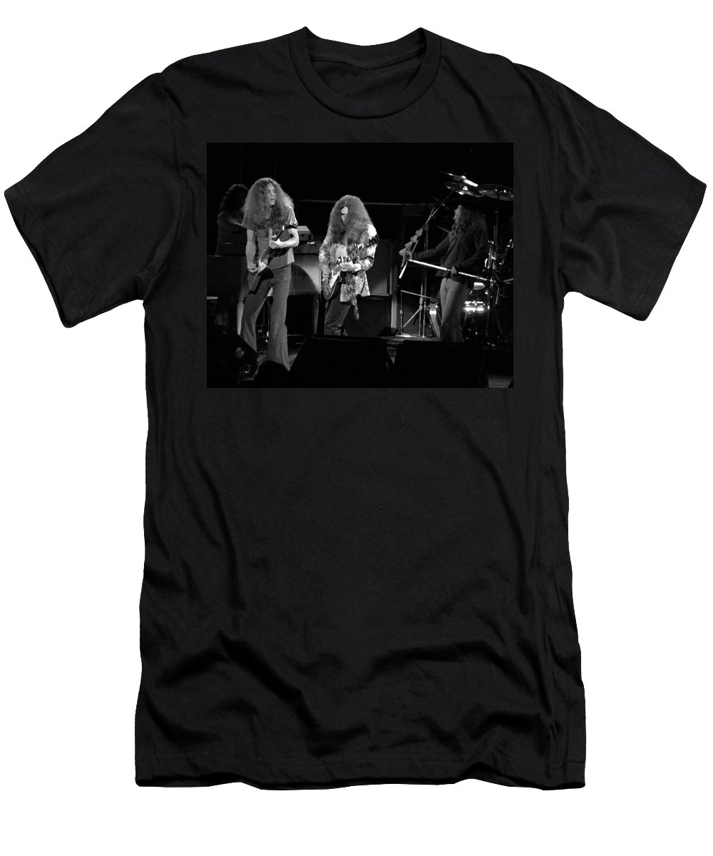 Lynyrd Skynyrd Men's T-Shirt (Athletic Fit) featuring the photograph Ls Spo #21 Enhanced Bw by Ben Upham