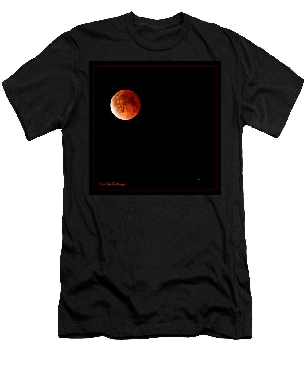 Moon T-Shirt featuring the photograph Lunar Eclipse April 15 2014 by Lucy VanSwearingen