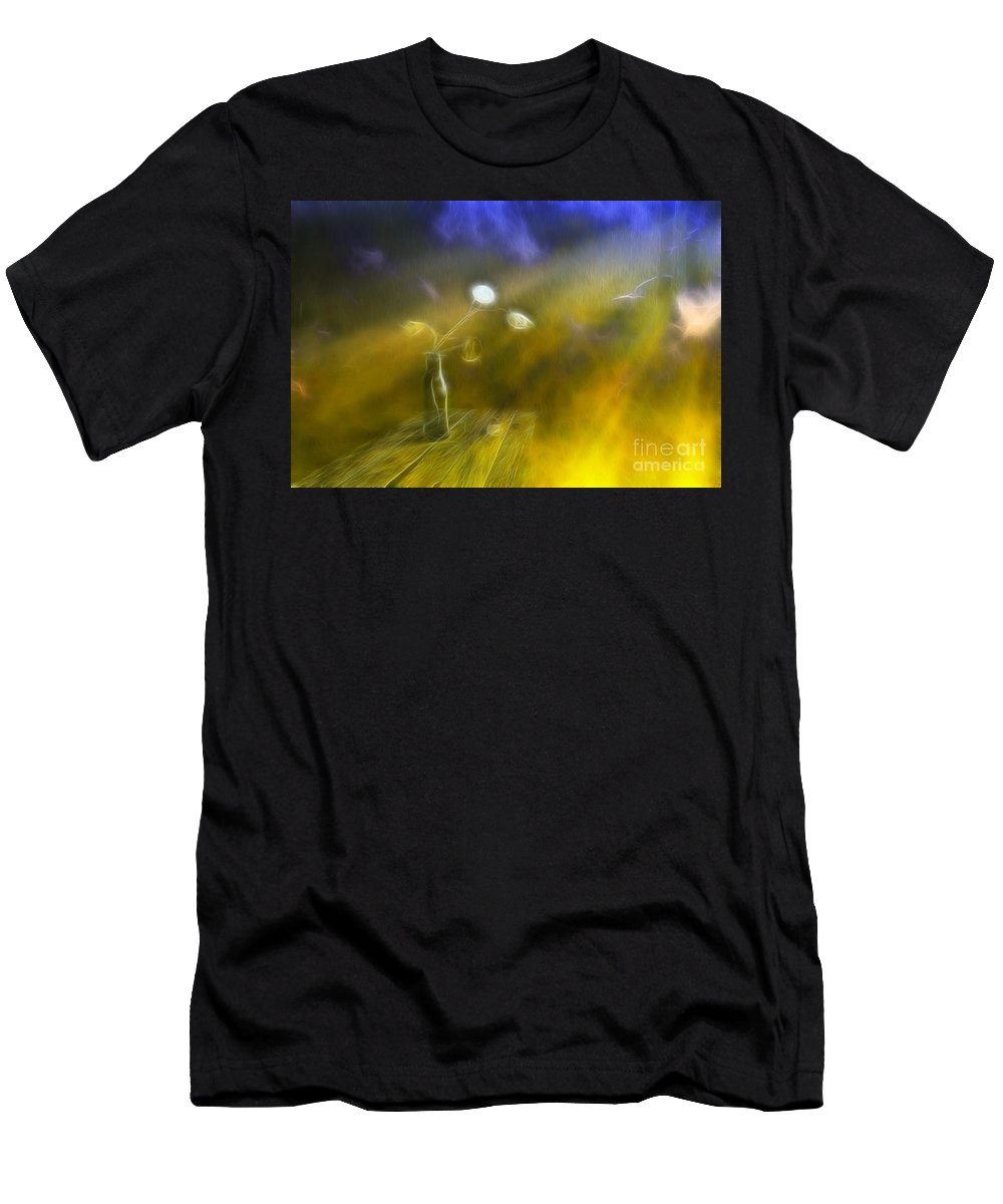 Art Men's T-Shirt (Athletic Fit) featuring the photograph Lunaria Annua by Veikko Suikkanen