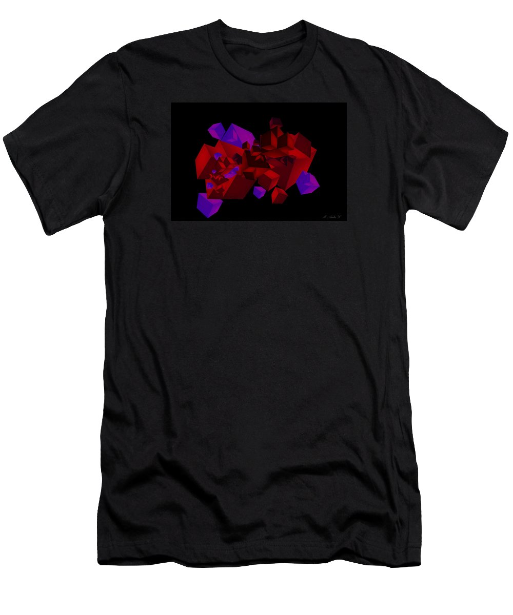 Abstract Men's T-Shirt (Athletic Fit) featuring the digital art Lust by Marcus Lewis