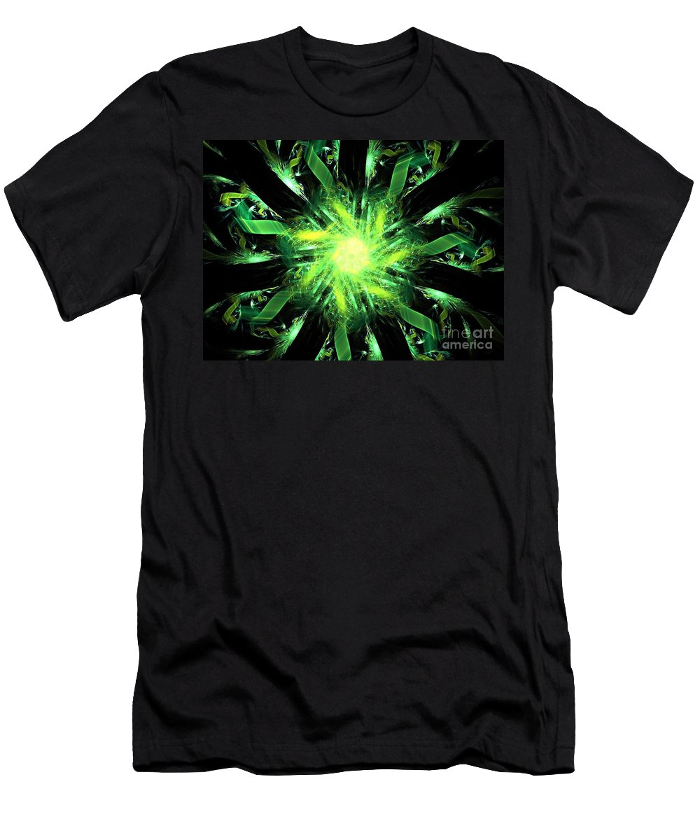 Apophysis Men's T-Shirt (Athletic Fit) featuring the digital art Lynx by Kim Sy Ok