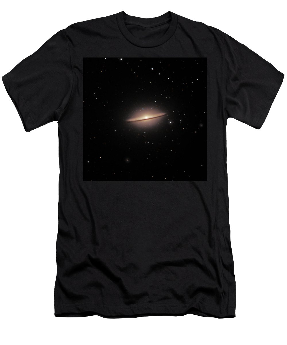 Stars Men's T-Shirt (Athletic Fit) featuring the photograph M104--the Sombrero Galaxy by Alan Vance Ley