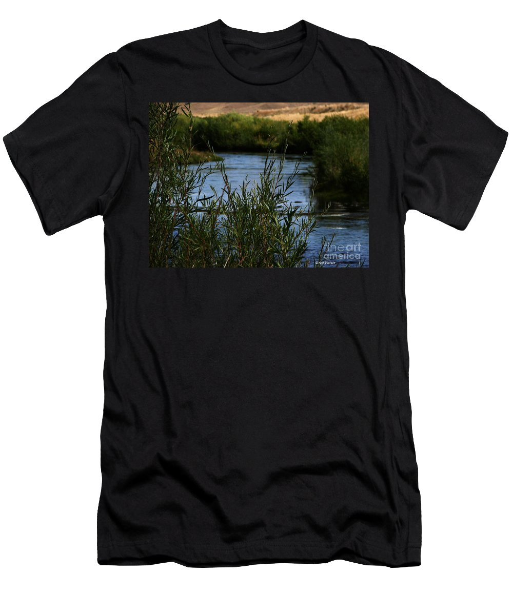 Madison River Men's T-Shirt (Athletic Fit) featuring the photograph Madison River by Greg Patzer