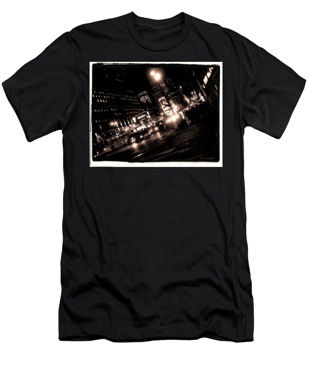 New York Men's T-Shirt (Athletic Fit) featuring the photograph Madison Square Garden by Donna Blackhall