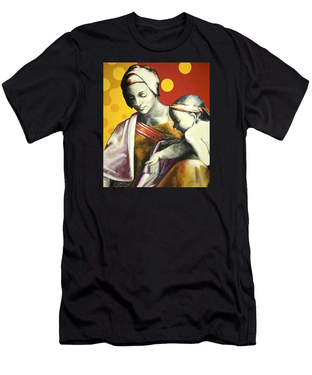 Figurative Men's T-Shirt (Athletic Fit) featuring the painting Madona by Jean Pierre Rousselet