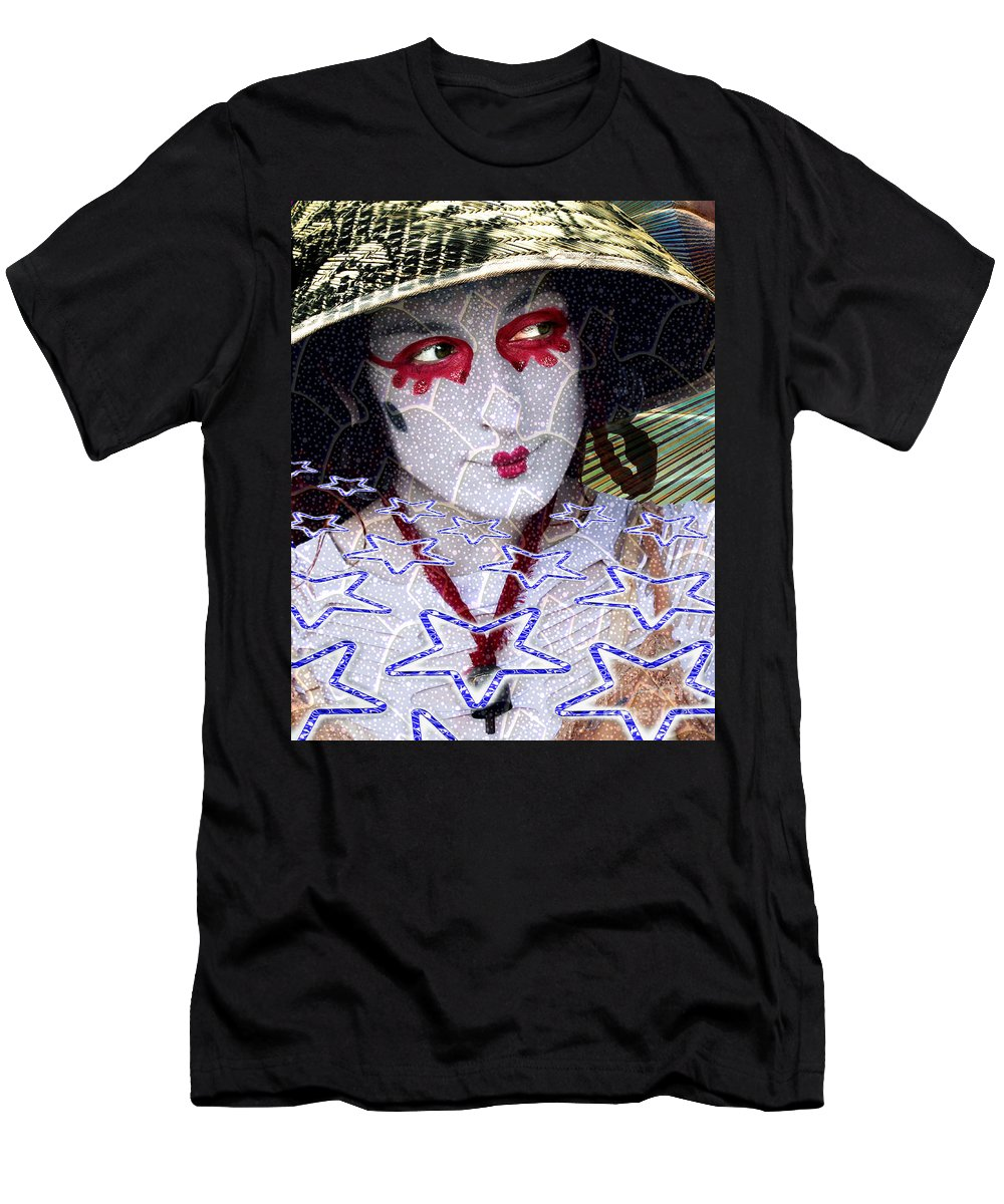 Stars Men's T-Shirt (Athletic Fit) featuring the digital art Magic Lady Goddess by Keith Dillon
