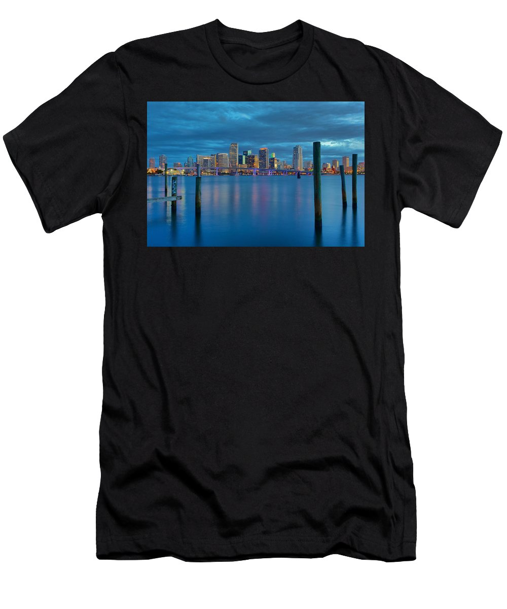 United States Men's T-Shirt (Athletic Fit) featuring the photograph Magical Blue Hour by Claudia Domenig