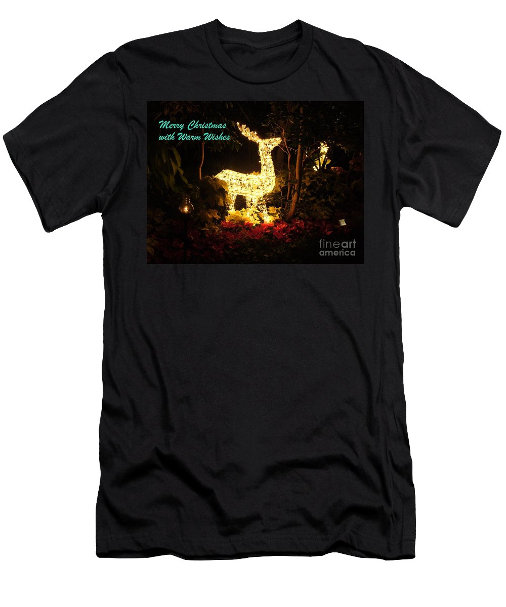 Christmas Light Display Men's T-Shirt (Athletic Fit) featuring the photograph Magical Christmas by Lingfai Leung