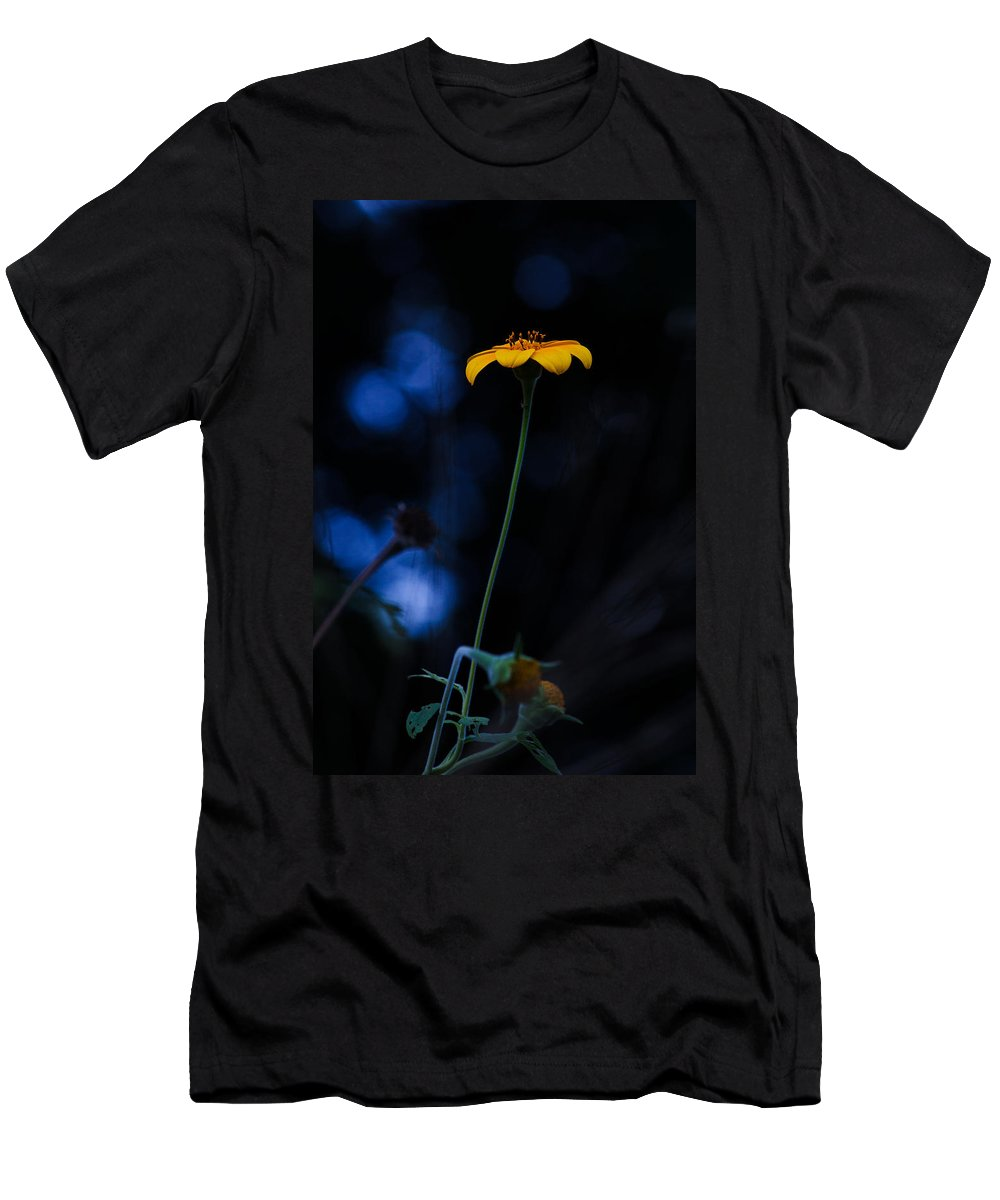 Arnica Men's T-Shirt (Athletic Fit) featuring the photograph Magical Forest Arnica by Mario Morales Rubi