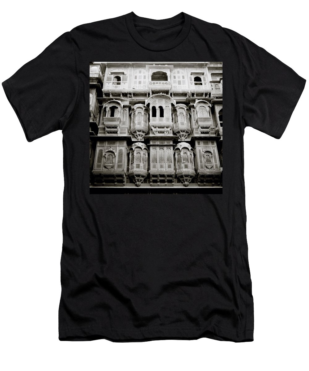 India Men's T-Shirt (Athletic Fit) featuring the photograph Ancient Jaisalmer by Shaun Higson