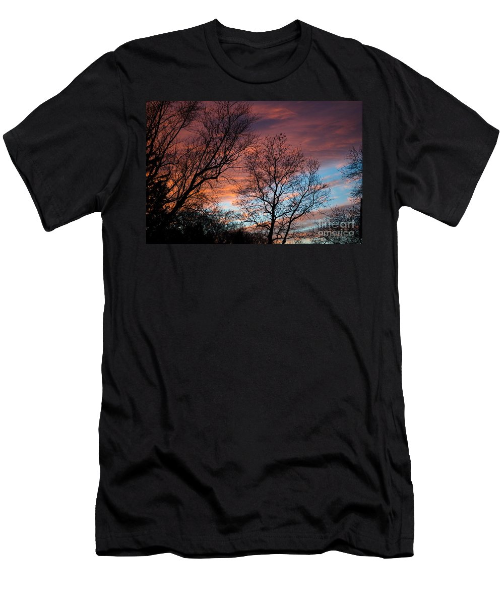 Sunset Men's T-Shirt (Athletic Fit) featuring the photograph Magnificent by Judy Wolinsky