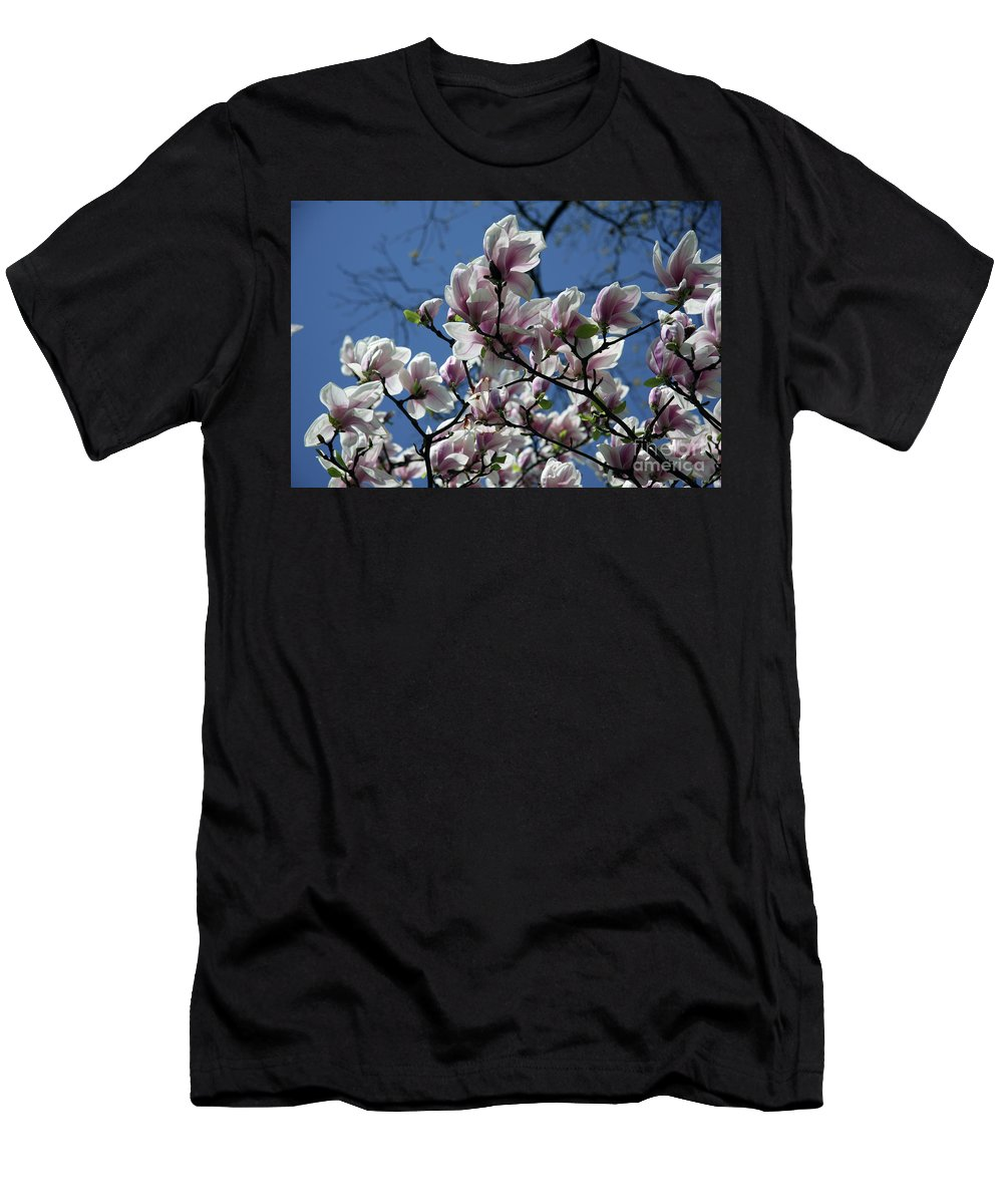 Magnolia Men's T-Shirt (Athletic Fit) featuring the photograph Magnolia Twig by Christiane Schulze Art And Photography