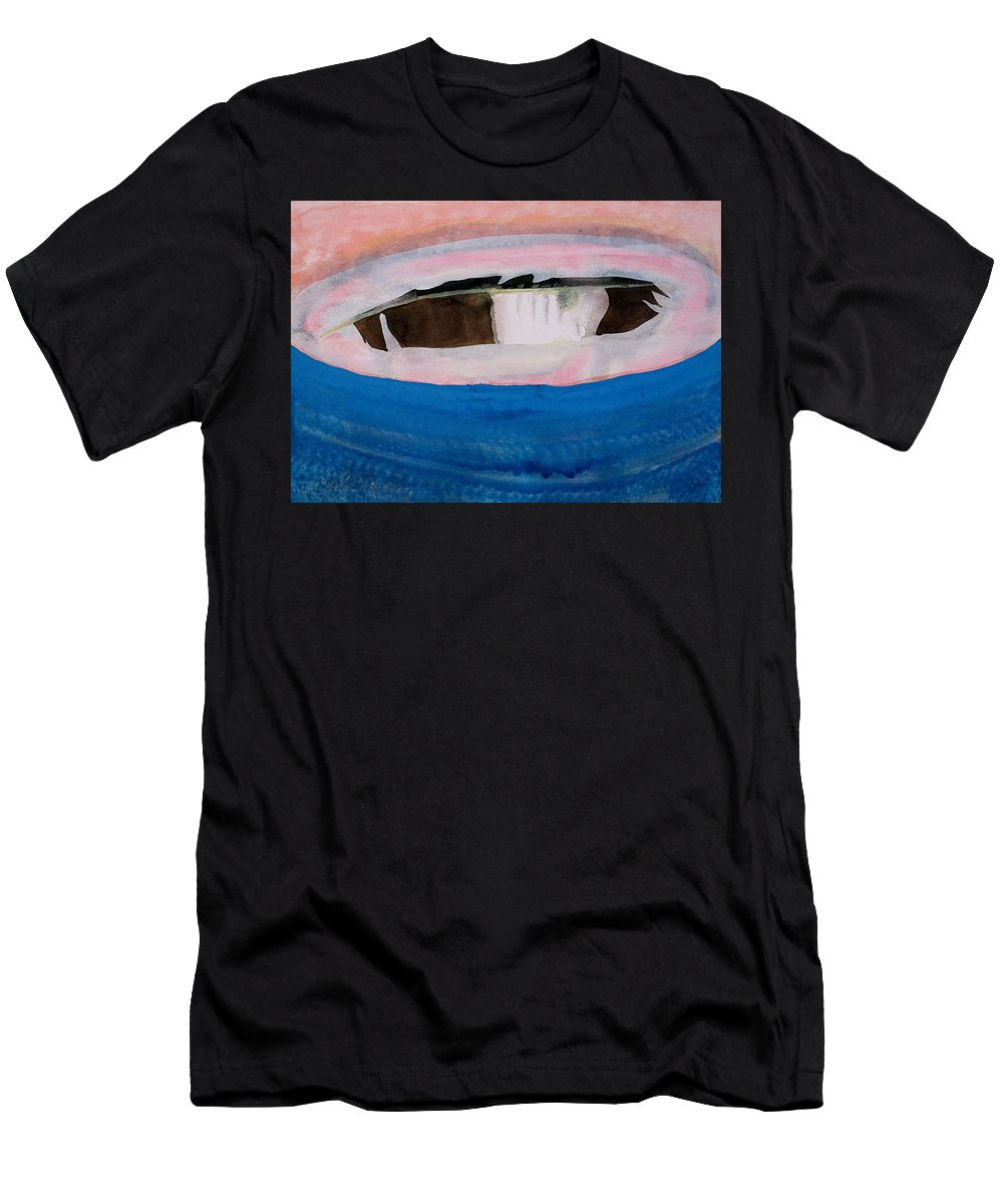 Magpie Men's T-Shirt (Athletic Fit) featuring the painting Magpie Original Painting by Sol Luckman