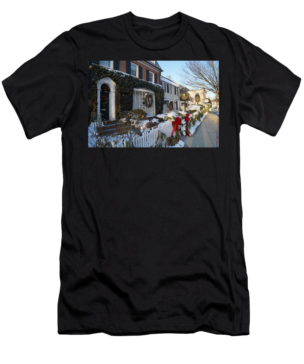 Main Street Men's T-Shirt (Athletic Fit) featuring the photograph Main Street by John Wall
