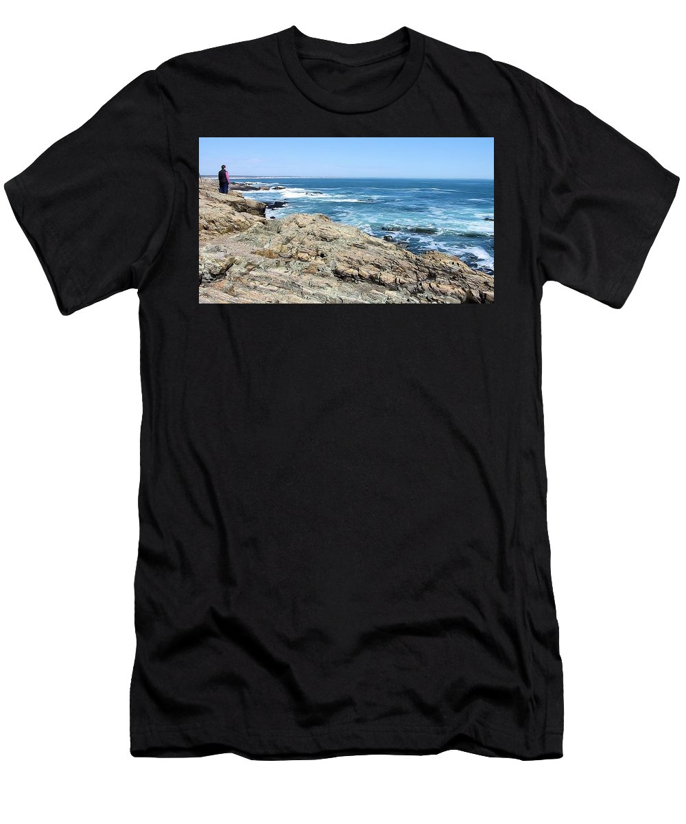 Maine Men's T-Shirt (Athletic Fit) featuring the photograph Maine 2002 A by Robert McCulloch