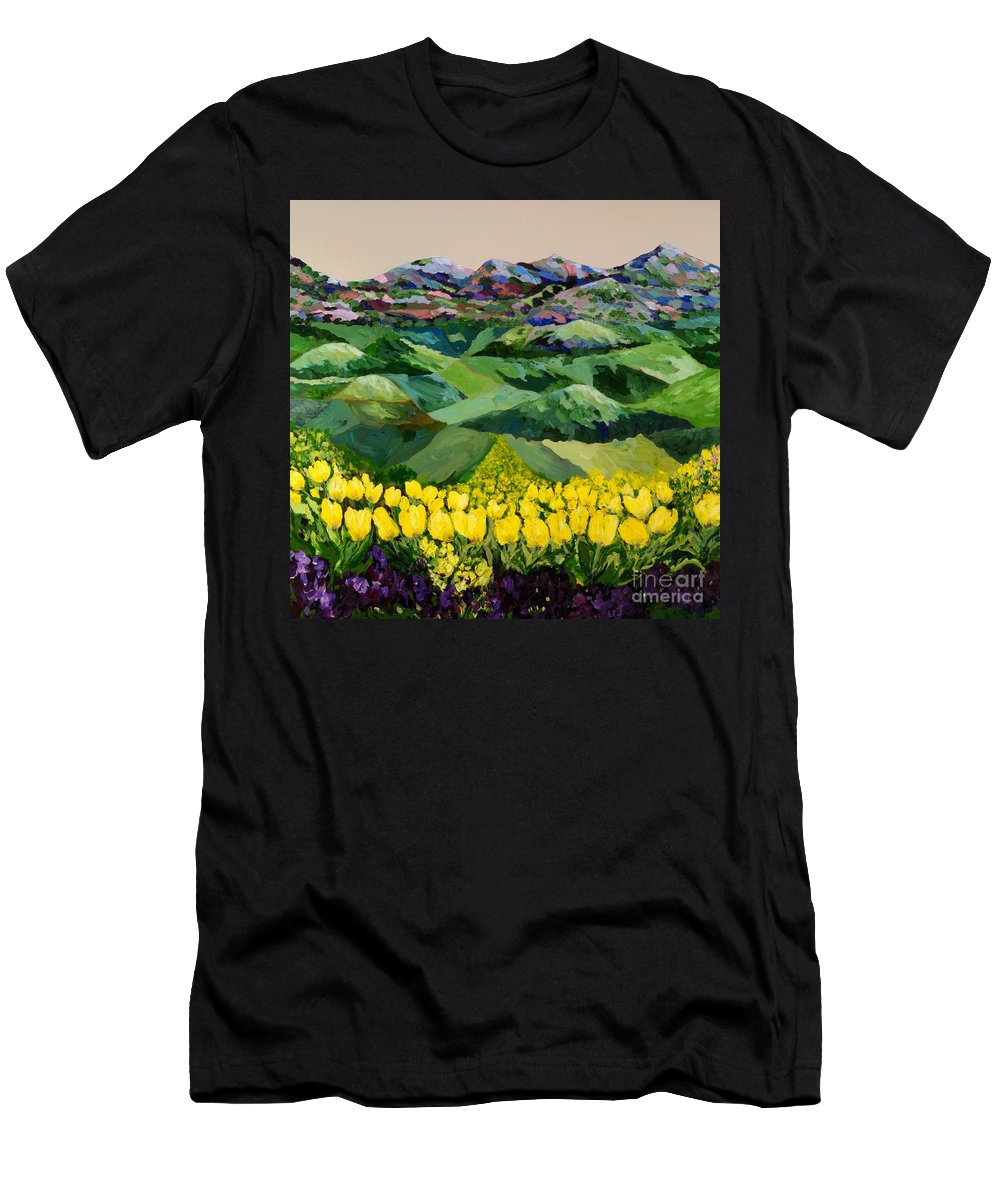 Landscape Men's T-Shirt (Athletic Fit) featuring the painting Majestic Parade by Allan P Friedlander