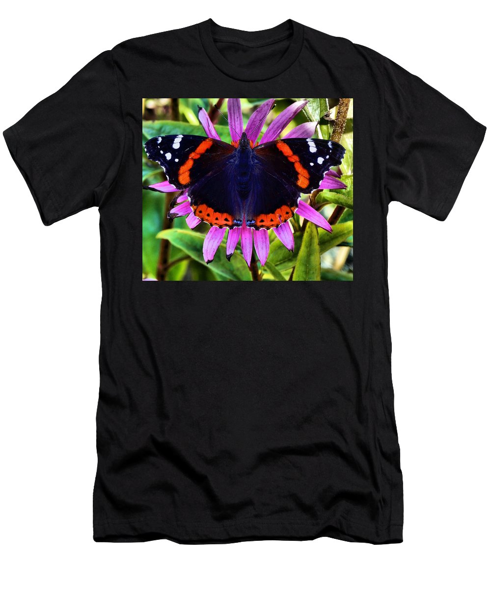 Butterfly Photograph Men's T-Shirt (Athletic Fit) featuring the photograph Mammoth Butterfly by Dan Sproul