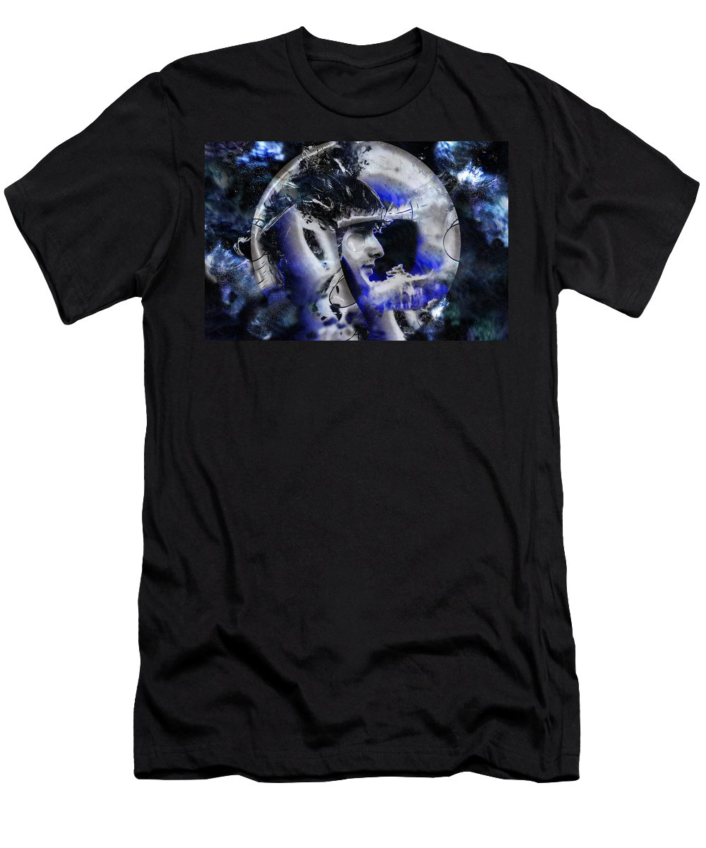 Portrait Men's T-Shirt (Athletic Fit) featuring the photograph Man In The Moon by Andrea Kainz