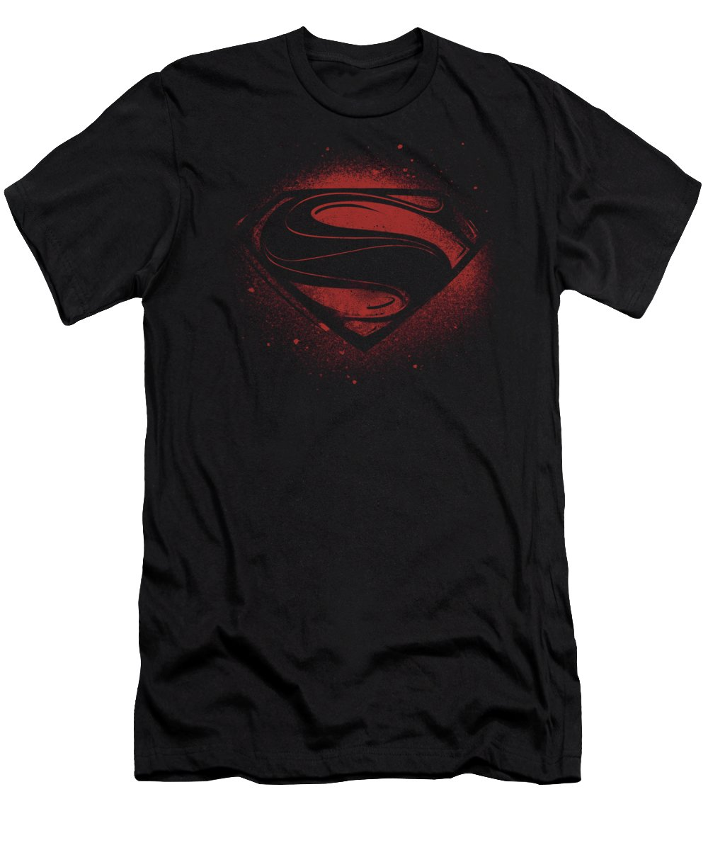 Men's T-Shirt (Athletic Fit) featuring the digital art Man Of Steel - Super Spray by Brand A
