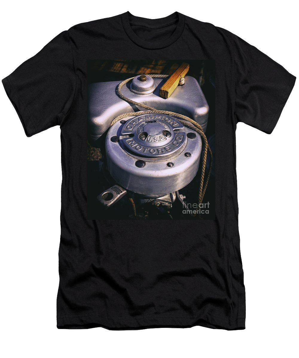 Engine Men's T-Shirt (Athletic Fit) featuring the photograph Manual Start by Joe Geraci