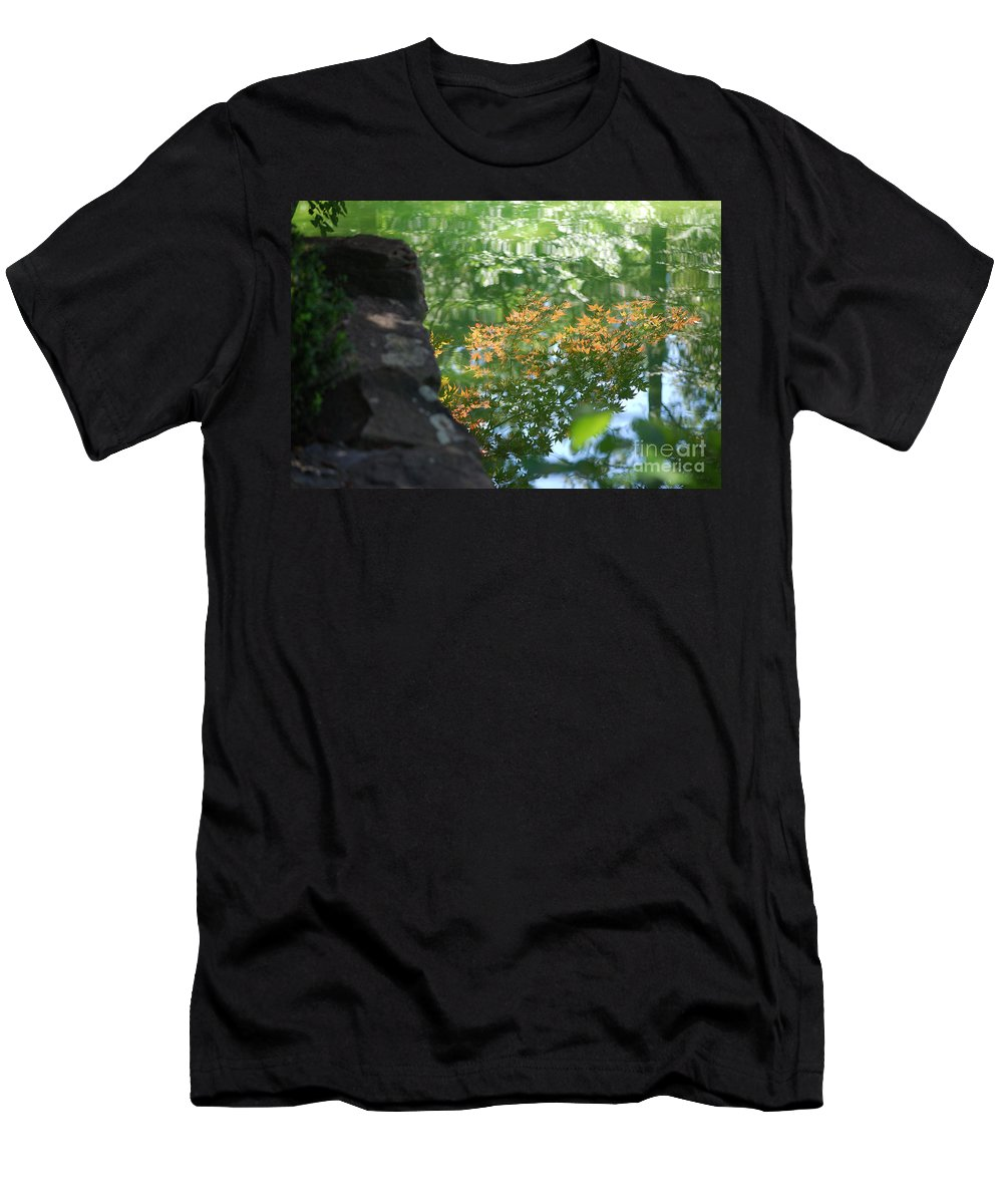 Maple Men's T-Shirt (Athletic Fit) featuring the photograph Maple Reflections by Sharon Elliott
