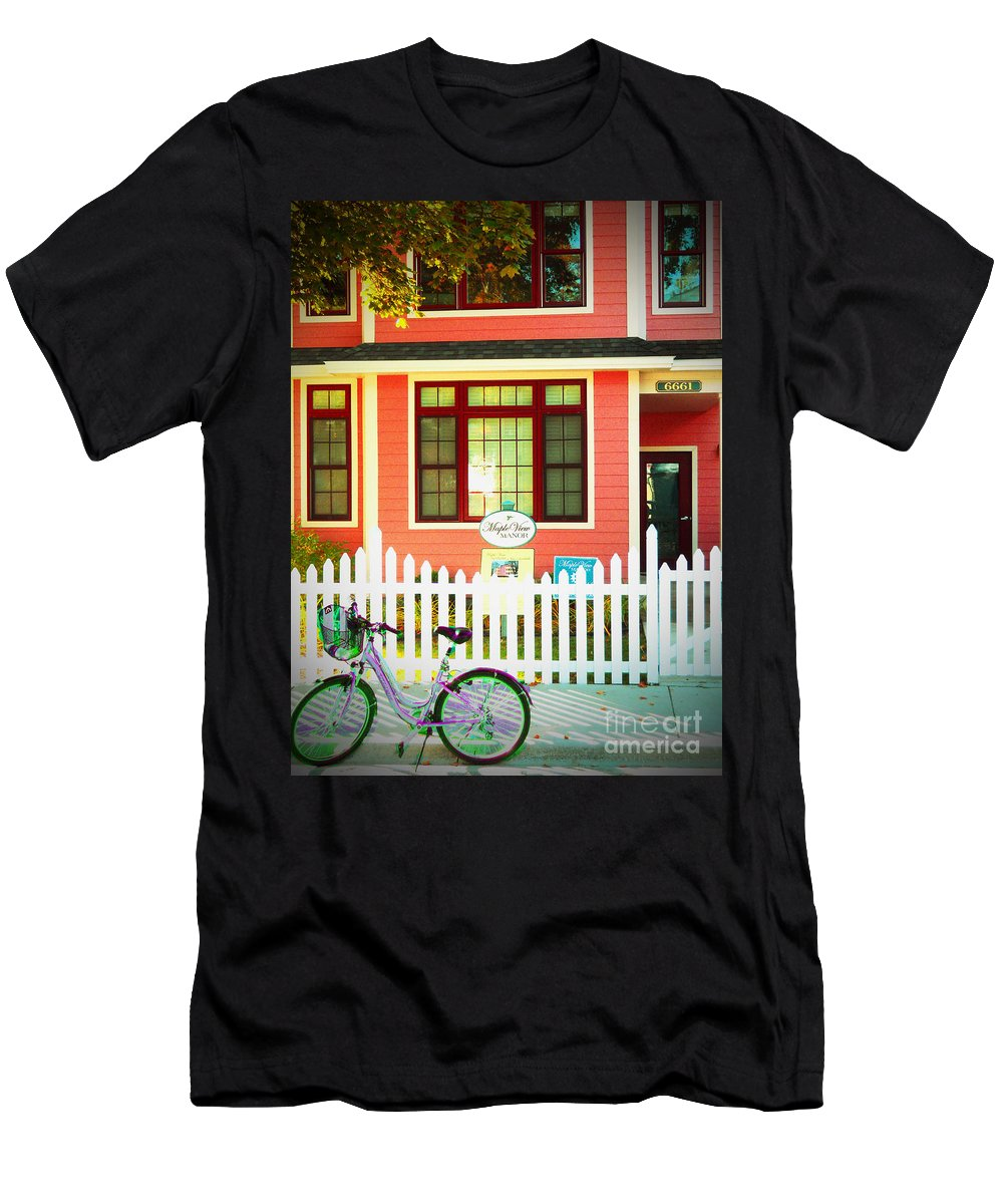 Mackinac Island Men's T-Shirt (Athletic Fit) featuring the photograph Maple View Manor by Desiree Paquette