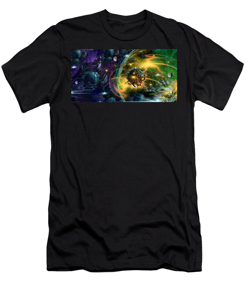 Phil Sadler Men's T-Shirt (Athletic Fit) featuring the digital art Maraxus by Phil Sadler
