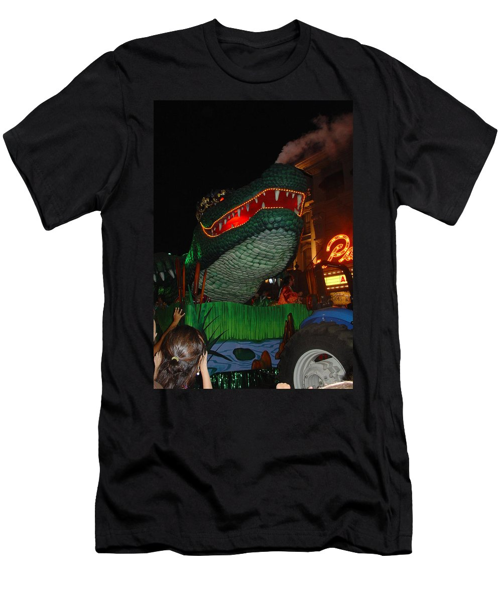 Mardi Gras Men's T-Shirt (Athletic Fit) featuring the photograph Mardi Gras Gator by David Nicholls