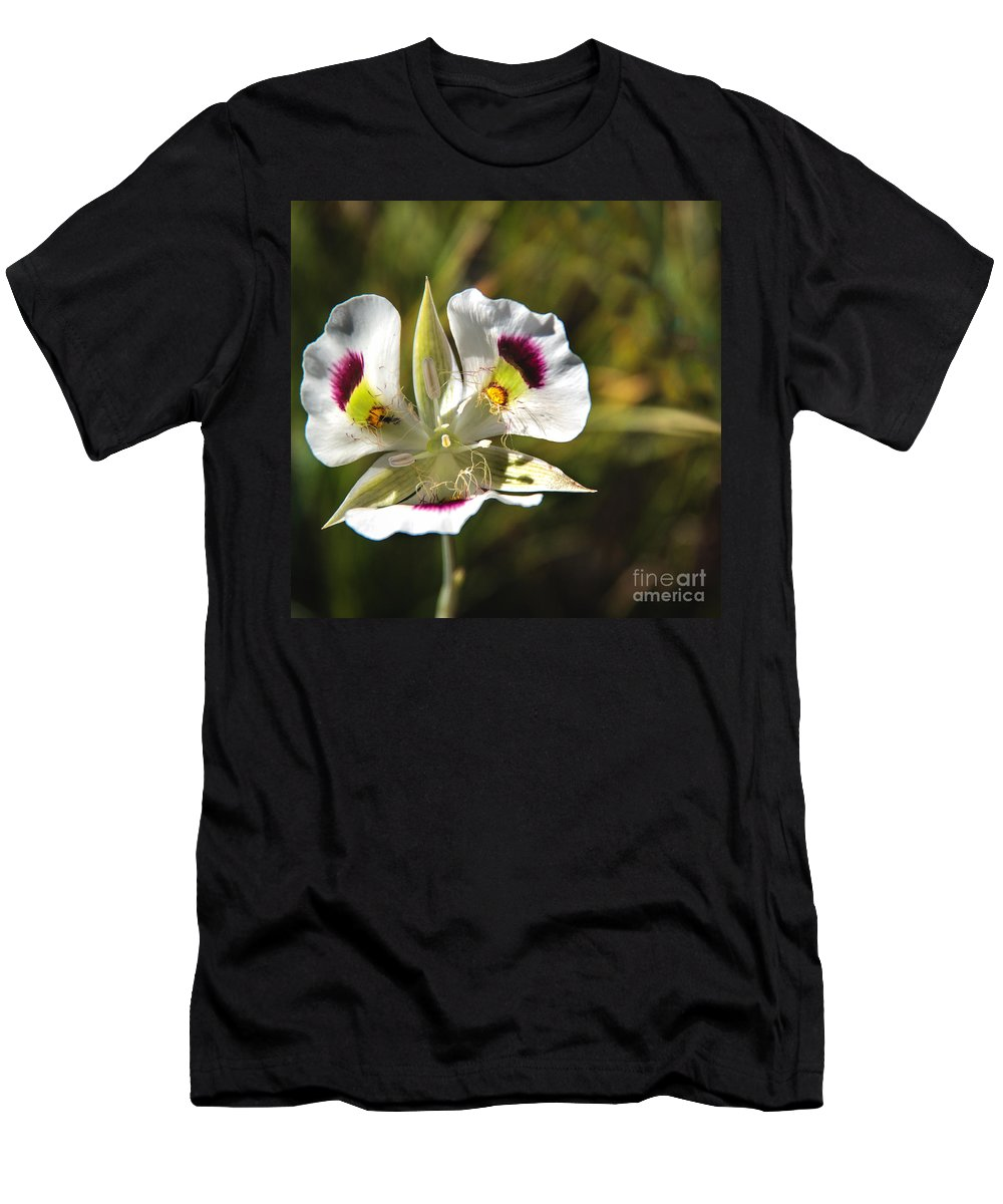 Wild Flowers Men's T-Shirt (Athletic Fit) featuring the photograph Mariposa Lily by Robert Bales