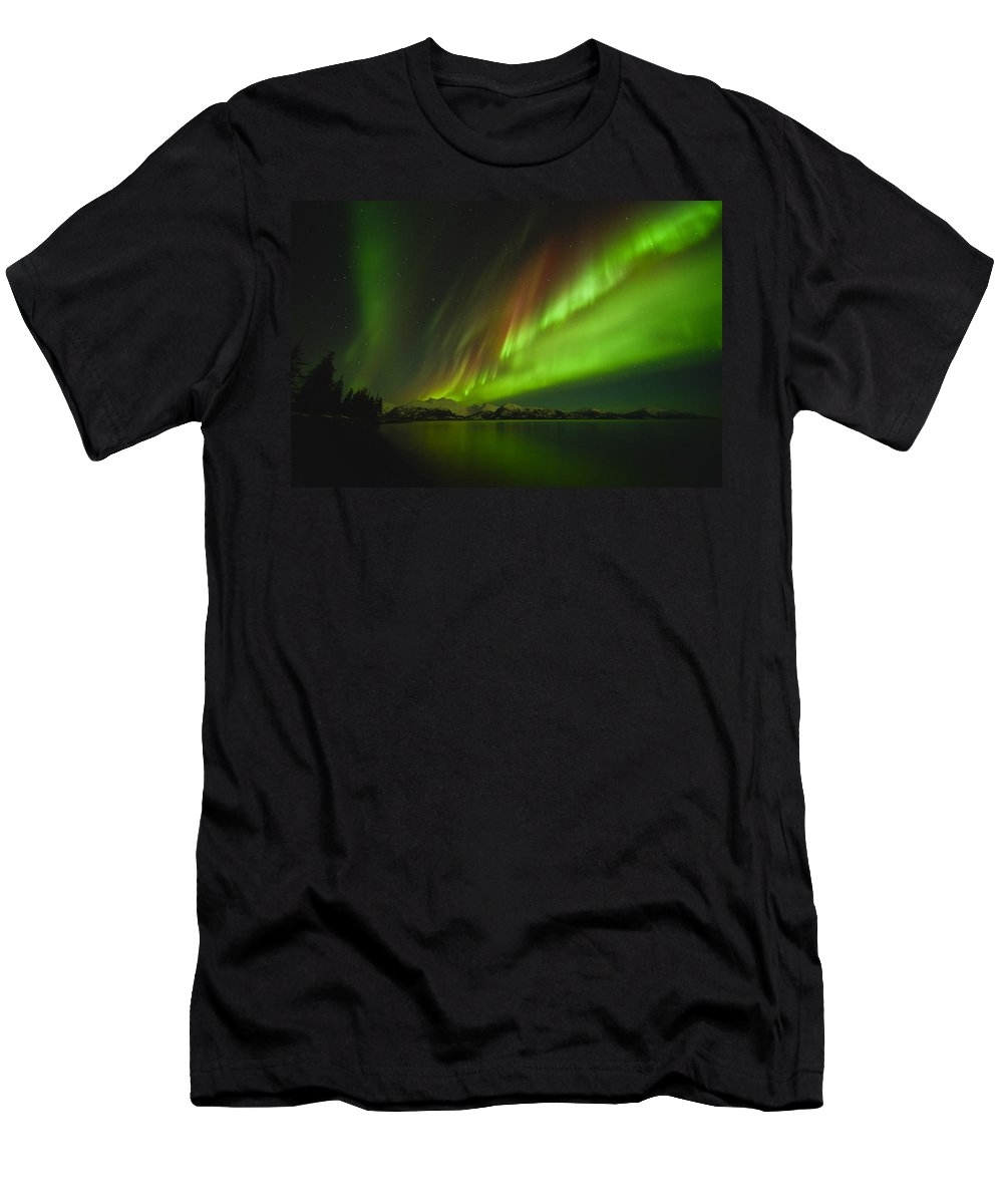 Aurora Men's T-Shirt (Athletic Fit) featuring the photograph Marvel by Ted Raynor