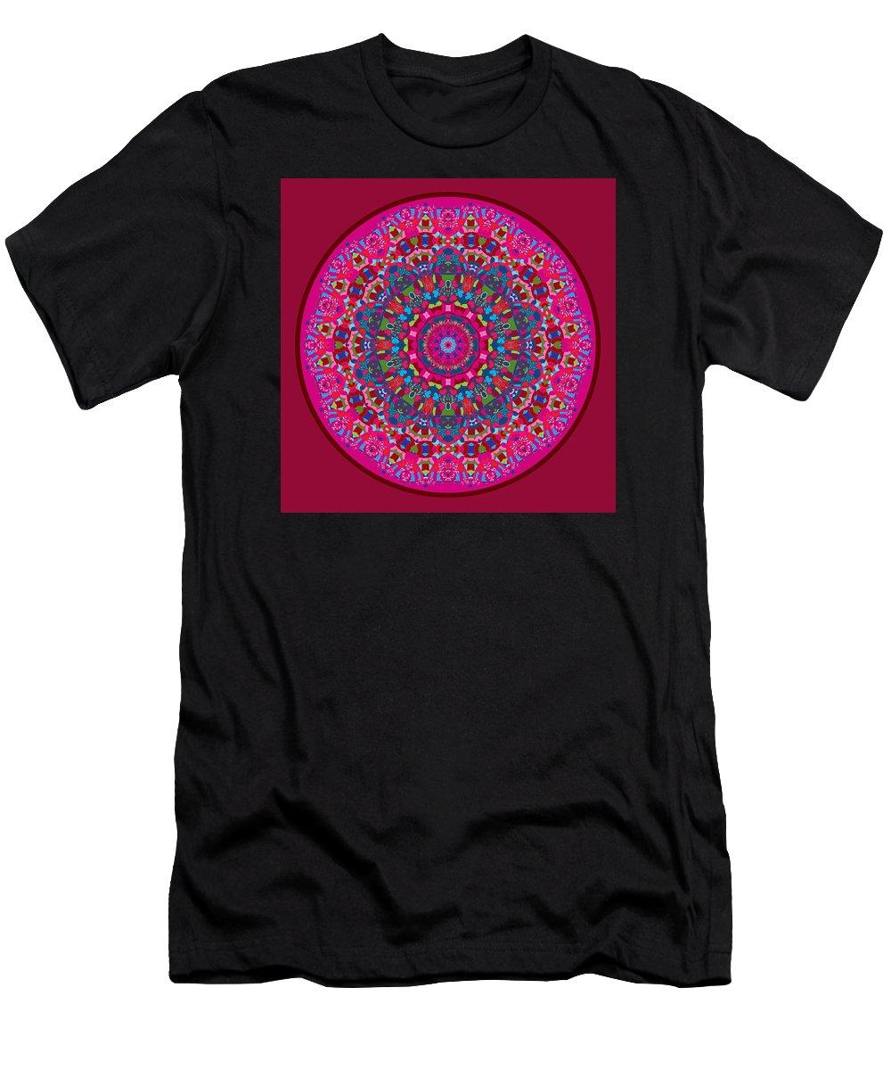 Mandala Men's T-Shirt (Athletic Fit) featuring the digital art Mary Grace Mandala by Joy McKenzie
