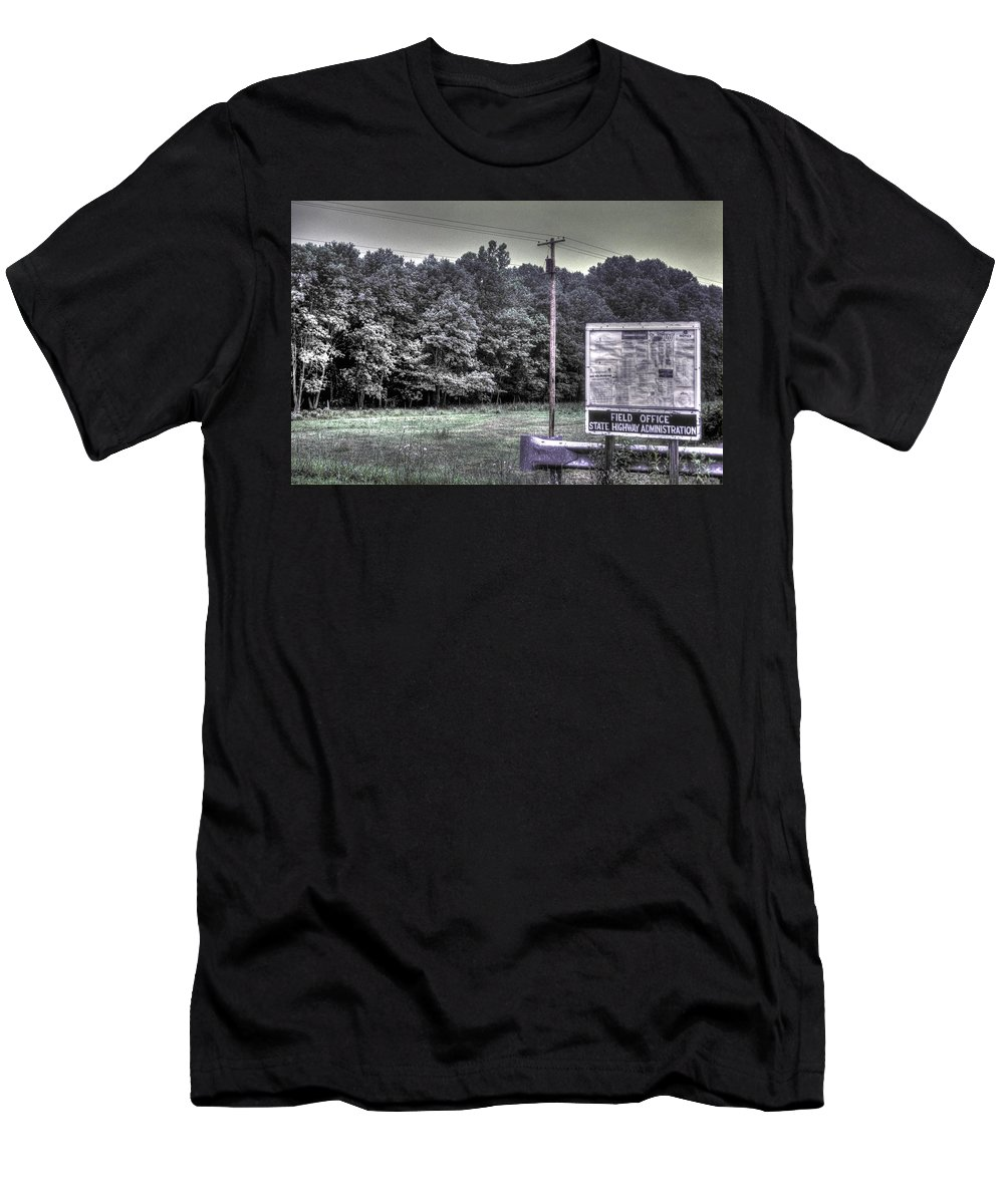 Maryland Men's T-Shirt (Athletic Fit) featuring the photograph Maryland Country Roads - Why We Are Where We Are by Michael Mazaika