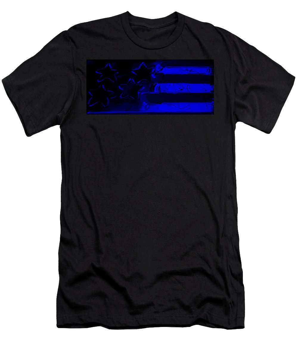 Modern Men's T-Shirt (Athletic Fit) featuring the photograph Max Americana In Blue by Rob Hans