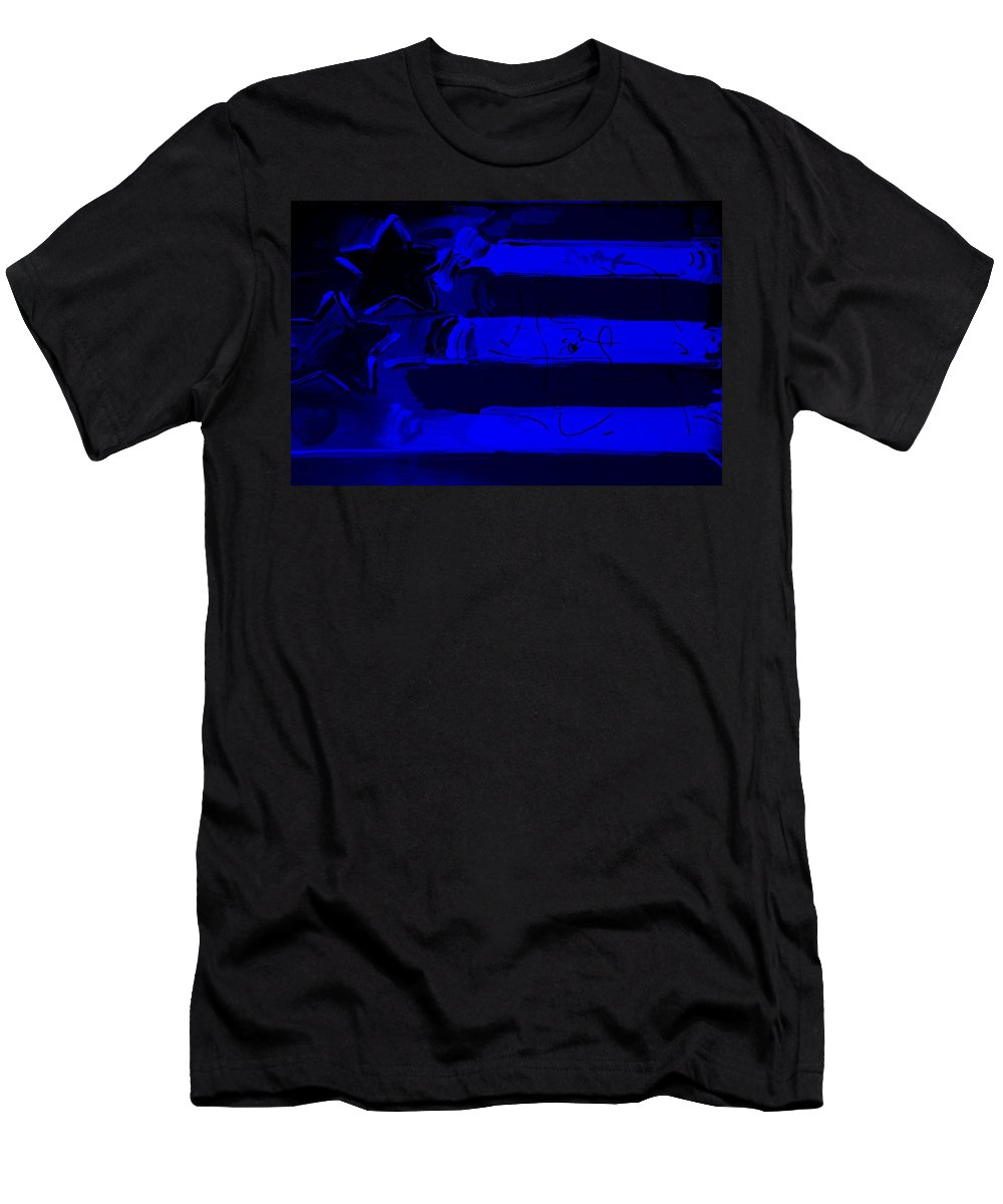 Modern Men's T-Shirt (Athletic Fit) featuring the photograph Max Stars And Stripes In Blue by Rob Hans