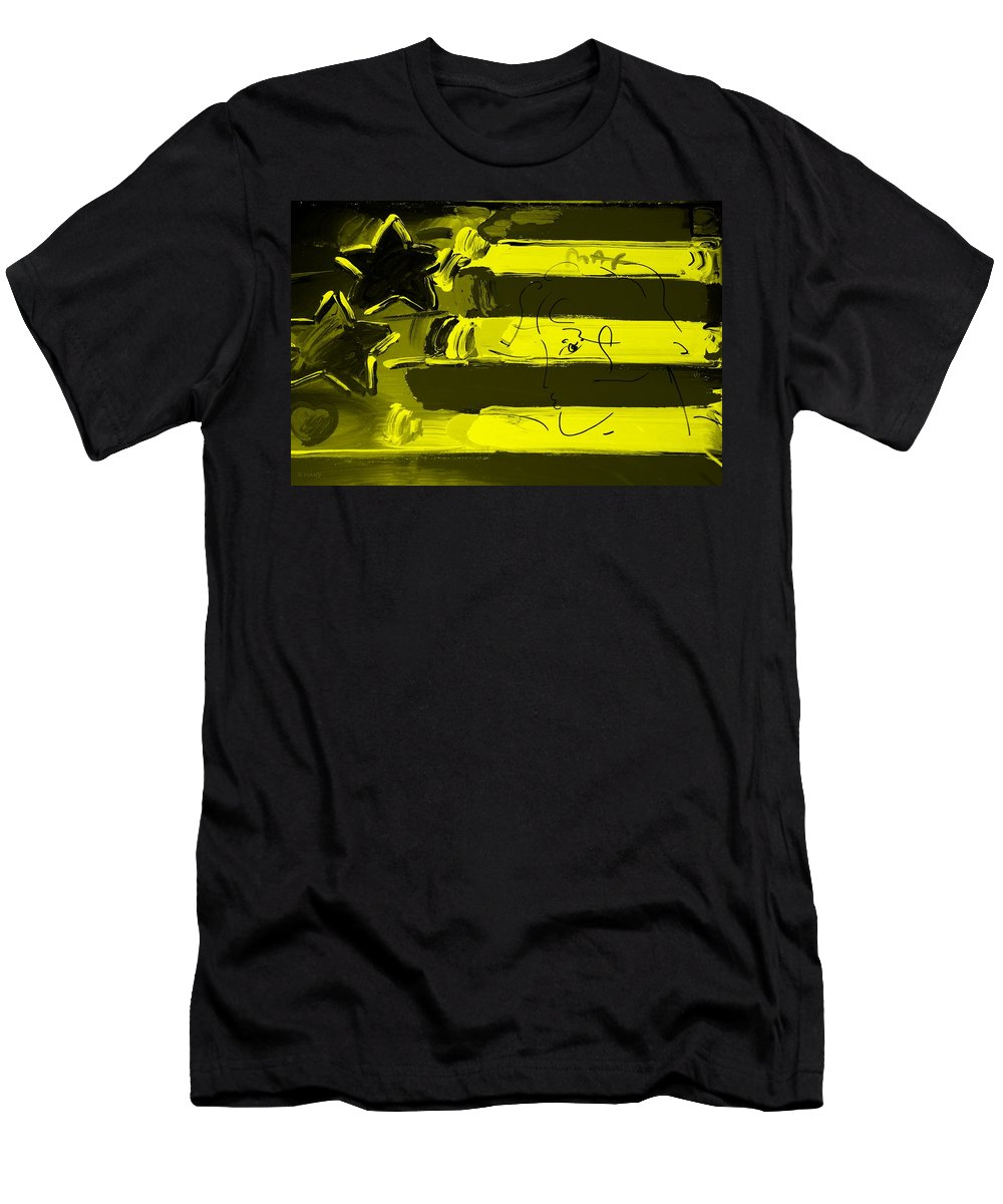 Modern Men's T-Shirt (Athletic Fit) featuring the photograph Max Stars And Stripes In Yellow by Rob Hans