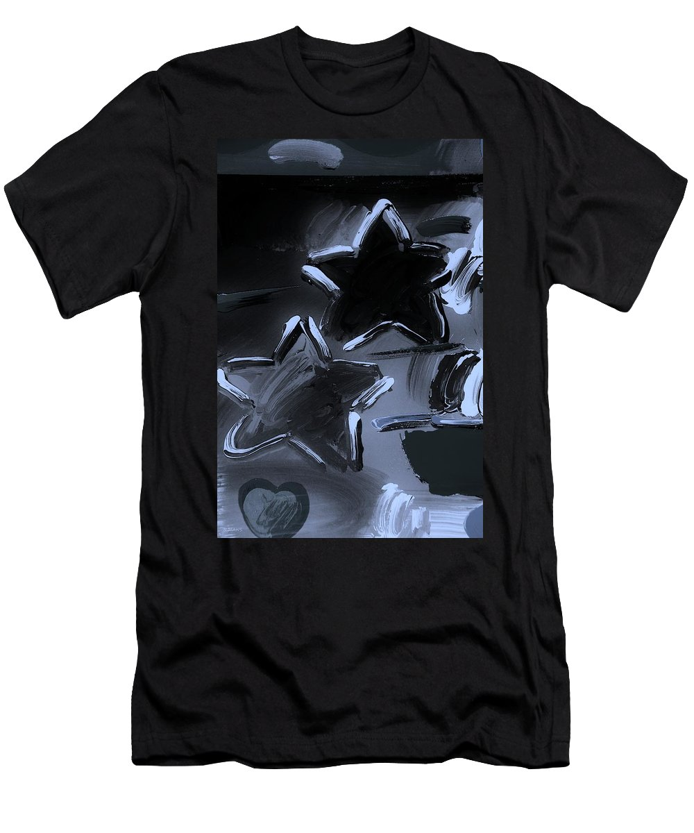Modern Men's T-Shirt (Athletic Fit) featuring the photograph Max Two Stars In Cyan by Rob Hans