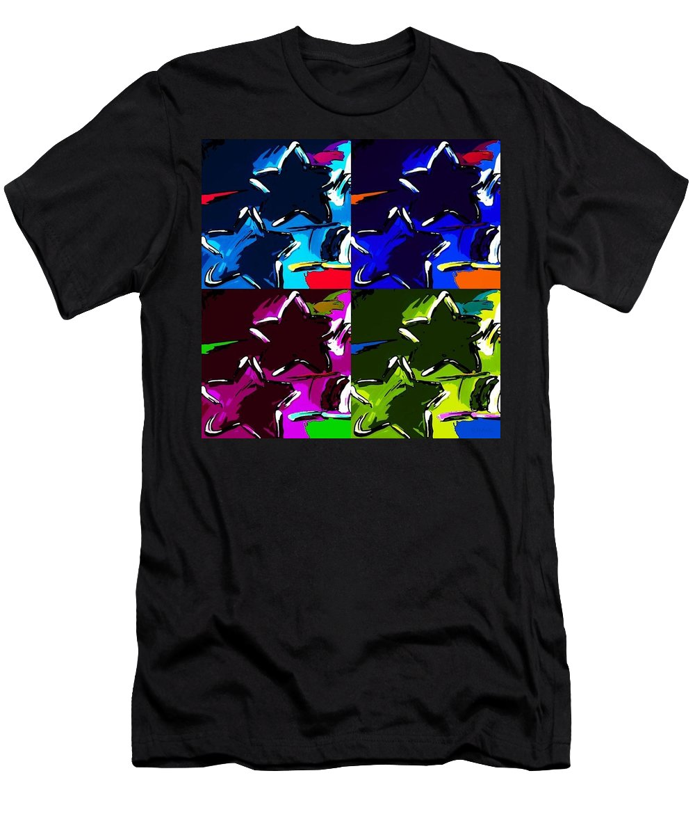 Modern Men's T-Shirt (Athletic Fit) featuring the photograph Max Two Stars In Pf Quad Colors by Rob Hans