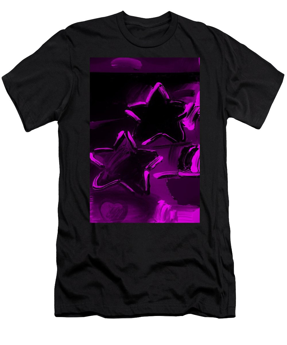 Modern Men's T-Shirt (Athletic Fit) featuring the photograph Max Two Stars In Purple by Rob Hans