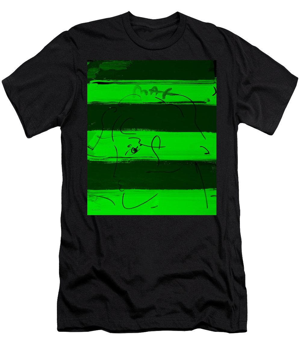 Modern Men's T-Shirt (Athletic Fit) featuring the photograph Max Woman In Green by Rob Hans