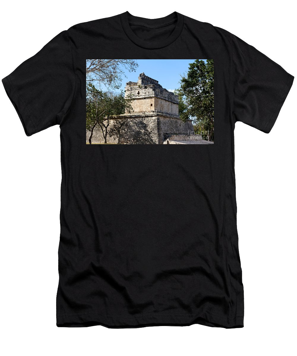 America Men's T-Shirt (Athletic Fit) featuring the photograph Mayan Ruin At Chichen Itza by Jannis Werner