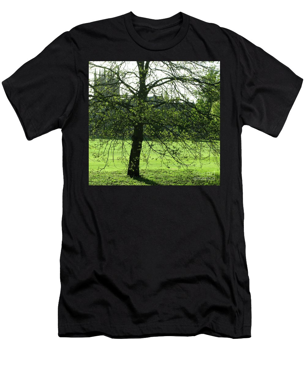 Oxford University Men's T-Shirt (Athletic Fit) featuring the photograph Meadow View by Ann Horn